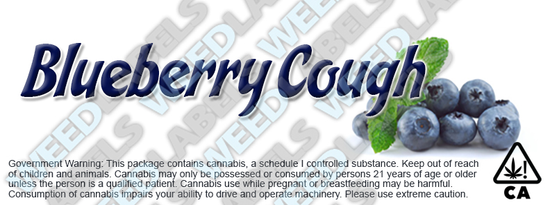 CAwater BLUEBERRY COUGH