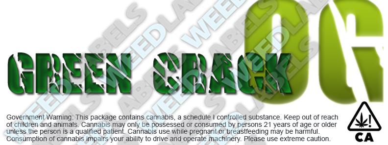 CAwater GREEN CRACK OG