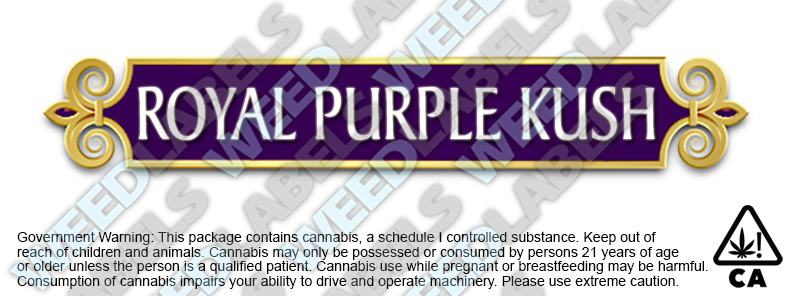 CAwater ROYAL PURPLE KUSH